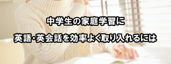 中学生 家庭学習 英語