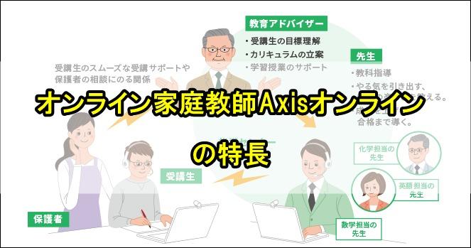 オンライン家庭教師Axisオンラインの特長